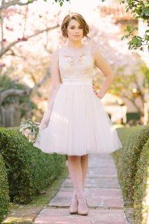 Tulle reception dress/short wedding dress - www.etsy.com/shop/JuLeeCollections