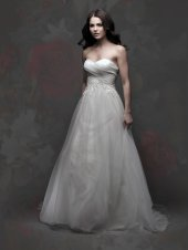 Tulle, satin and organza wedding dress - www.etsy.com/shop/SarasGowns