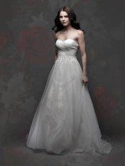 Tulle, satin and organza wedding dress - www.etsy.com/shop/SarasGowns