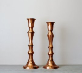 Vintage copper candlesticks - www.etsy.com/shop/Suite22