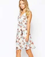 Warehouse Floral Folk Skater Dress, from asos.com