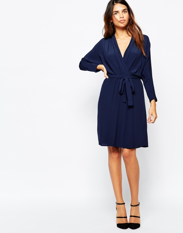 Warehouse Wrap Front Kimono Dress, from asos.com