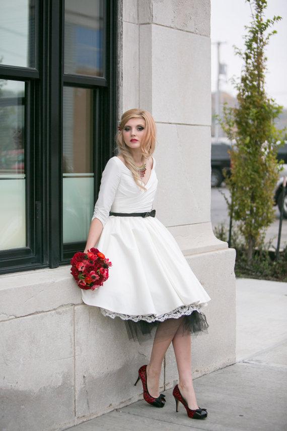 Reception dresses/short wedding dresses on etsy.com   The Merry Bride
