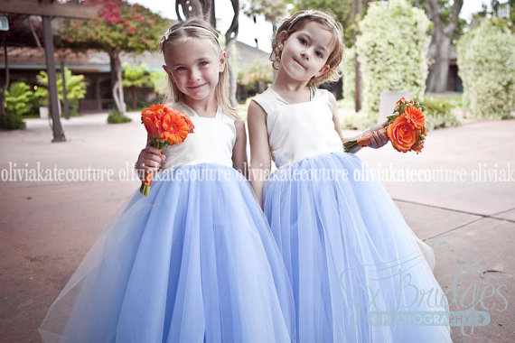 288a697d00e Blue and white flower girl dress – www.etsy.com shop OliviaKateCouture