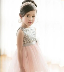 Blush and gold sequin flower girl dress - www.etsy.com/shop/SimplyChicCouture