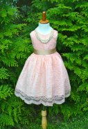 Blush lace flower girl dress - www.etsy.com/shop/MaidenLaneBoutique