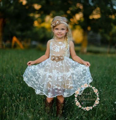 Embroidered organza flower girl dress - www.etsy.com/shop/SweetValentina