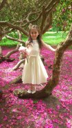 Georgette and satin flower girl dress - www.etsy.com/shop/SophiaGracieCouture