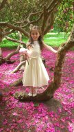 Georgette and satin flower girl dress - www.etsy.com/shop/SophiaGracieCouture