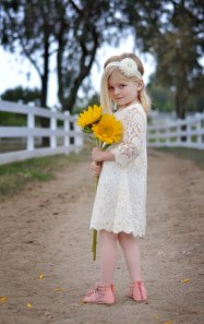 Ivory lace flower girl dress - www.etsy.com/shop/MaidenLaneBoutique
