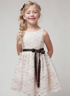 Ivory lace flower girl dress - www.etsy.com/shop/PoshPoppyKids