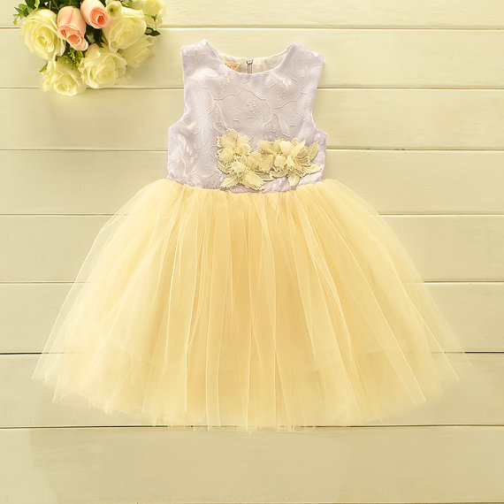 Lavender and lemon yellow flower girl dress etsyshop 570 570 in flower girl dresses mightylinksfo