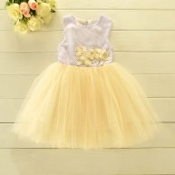 Lavender and lemon-yellow flower girl dress - www.etsy.com/shop/SimplyChicCouture