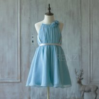 Light blue flower girl dress - www.etsy.com/shop/RenzRags