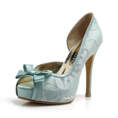 Light blue wedding heels - www.etsy.com/shop/ChristyNgShoes