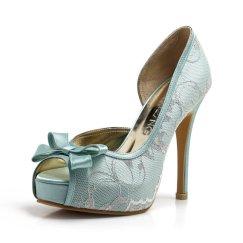 Light blue wedding heels - www.etsy.com/shop/ChristyNgShoes