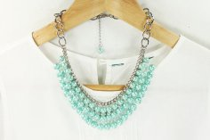 Mint necklace - www.etsy.com/shop/MoloRoseGarden