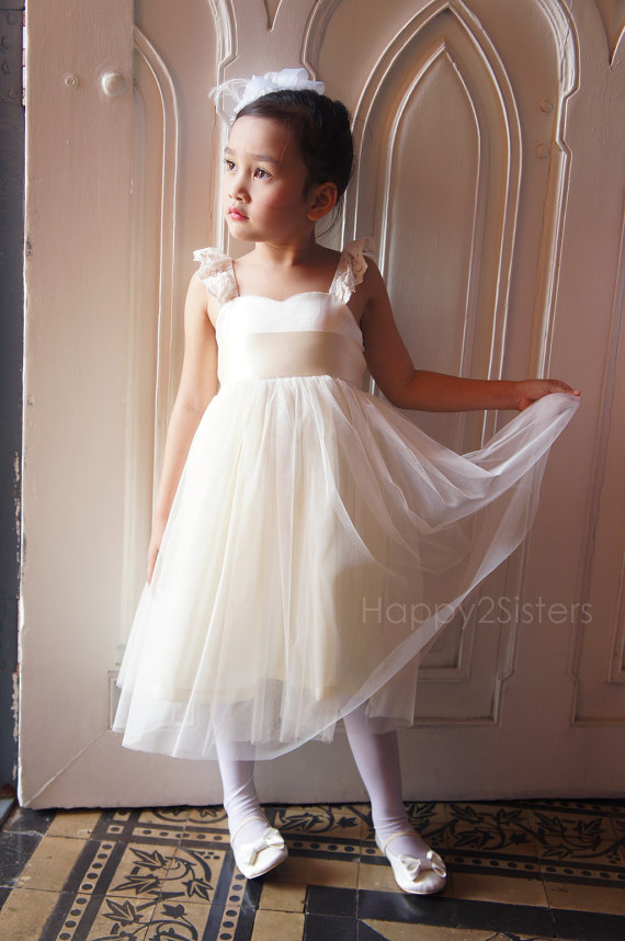 Satin and tulle flower girl dress – www.etsy.com/shop ...