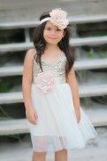 Sequin and tulle flower girl dress - www.etsy.com/shop/MaidenLaneBoutique