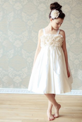 Silk, chiffon and cotton flower girl dress - www.etsy.com/shop/annesdesignstudio