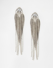 ASOS Chain Fringe Statement Drop Earrings, from asos.com
