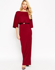 ASOS Crepe Kimono Maxi Dress With Belt, from asos.com