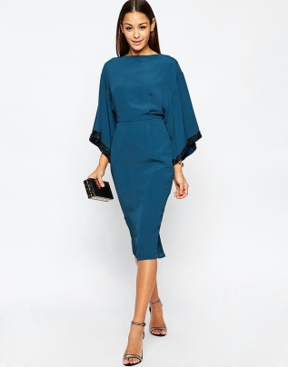 ASOS Embellished Trim Kimono Midi Dress, from asos.com
