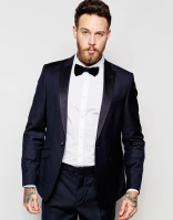 ASOS Slim Fit Tuxedo Suit Jacket in 100% Wool, from asos.com