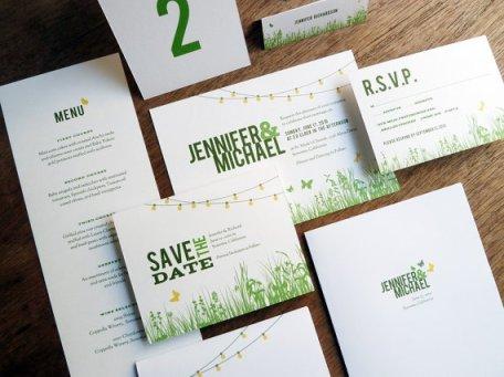 Backyard wedding invitation - www.etsy.com/shop/empapers