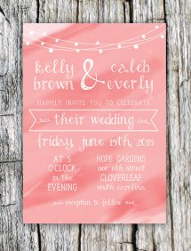 Backyard wedding invitation - www.etsy.com/shop/PaperAirplaneDsgn