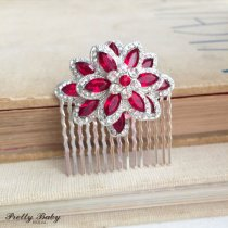 Christmas wedding hair comb - www.etsy.com/shop/PrettyBabyBridal