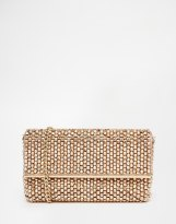 Dune Eternity Beaded Clutch Bag in Rose Gold, from asos.com