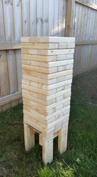 Giant stacking blocks game for wedding guests - www.etsy.com/shop/JKsBackyardGames