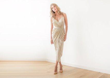 Gold bridesmaid dress - www.etsy.com/shop/BLUSHFASHION