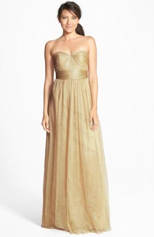Jenny Yoo gold bridesmaid dress - nordstrom.com