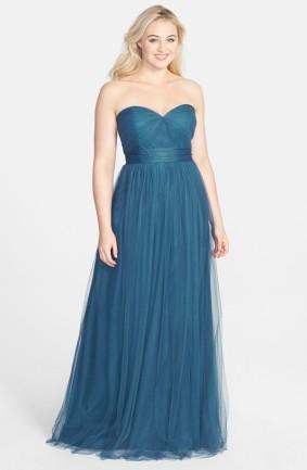 Jenny Yoo teal bridesmaid dress - nordstrom.com