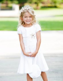 Organic cotton flower girl dress - www.etsy.com/shop/ChildrenCouture