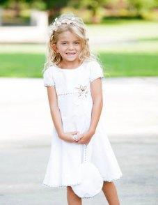 Organic cotton flower girl dress - www.etsy.com/shop/ChildrenCouture