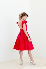 Red bridesmaid dress - www.etsy.com/shop/LankkaBridal