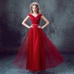 Red bridesmaid dress - www.etsy.com/shop/PhoebeDressShop