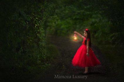 Red flower girl dress - www.etsy.com/shop/MimozaLuxury