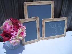 Set of 3 chalkboard signs - www.etsy.com/shop/dazzlingexpressions