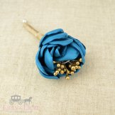 Teal and gold buttonhole - www.etsy.com/shop/Lillyanddot