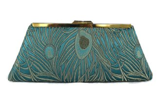 Teal and gold clutch purse - www.etsy.com/shop/jemdesign567