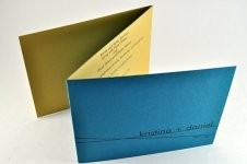 Teal and gold wedding invitation - www.etsy.com/shop/down2earthpaperworks