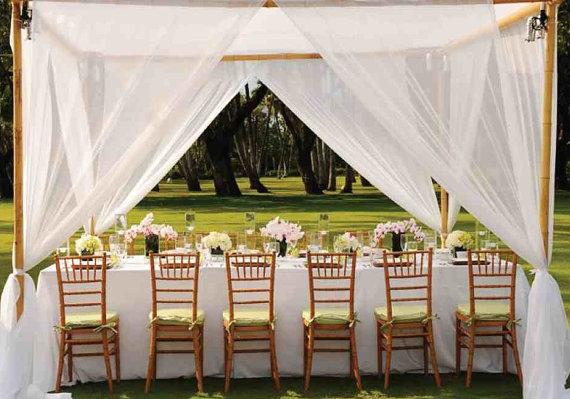 Tulle wedding curtains - www.etsy.com/shop/MyBarkatVilla