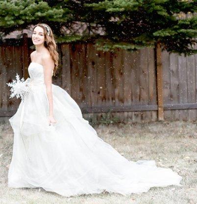 Unique crystal snowflake bridal bouquet - www.etsy.com/shop/BridalBouquetsbyKy