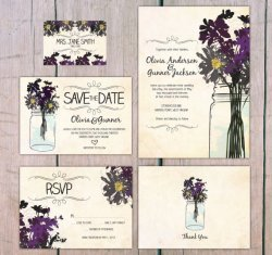 Wildflower wedding invitation - www.etsy.com/shop/theprintlove