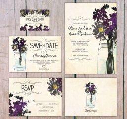 Wildflower wedding invitation - www.etsy.com/shop/theprintlove