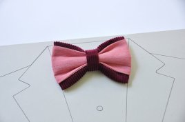 Burgundy and pink men's bow tie - www.etsy.com/shop/WingedBowTies